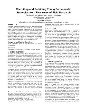 Proceedings Template - WORD - University of Maryland
