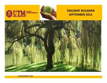 TAKLIMAT BULANAN SEPTEMBER 2012 - Institute Bioproduct ...