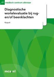 mca.nl Diagnostische wortelevaluatie bij rug- en/of beenklachten