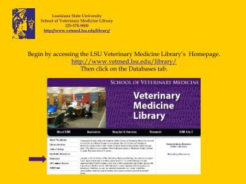 Click Here - School of Veterinary Medicine - Louisiana State University
