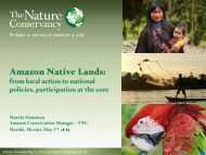 Amazon Native Lands - Conservation Gateway