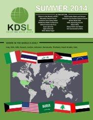 KDSL Summer 2014 Newsletter