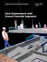Deck Replacement with Precast Concrete Segments