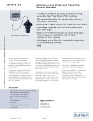 Ultrasonic Level Probe and Transmitter Remote Mounted • Teach–In ...