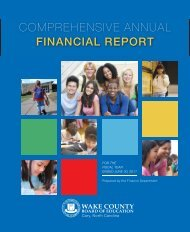 FY 2011 - Wake County Public School System