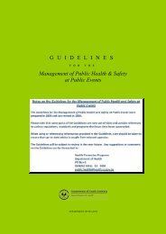 Management of public health & safety at public events