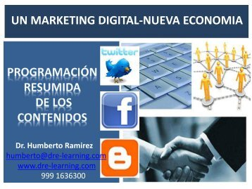 Conferencia sobre Marketing Digital 3.0 - By Dre-Learning.Com