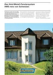 Produktprospekt (pdf, 545 KB) - Schweizer Metallbau