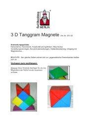 3 D Tanggram Magnete Art.-Nr. 261-52 - Gregishp.ch
