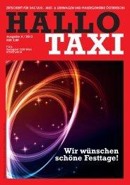 Wir wünschen schöne Festtage! - bei Taxi 60160