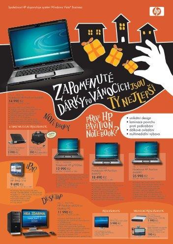 Nabídka produktů HP na Leden 2008 - CATEGORY a.s.