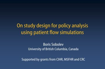 On study design for policy analysis using patient flow simulations