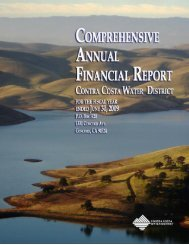 FY 2009 Comprehensive Financial Report - Contra Costa Water ...