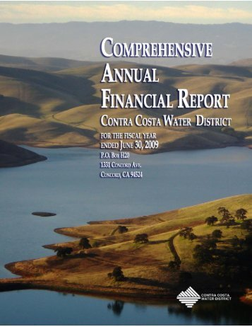 FY 2009 Comprehensive Financial Report - Contra Costa Water ...