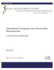 International Companies and Post-Conflict ... - International Alert