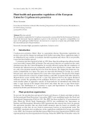Plant health and quarantine regulations of the European Union for ...