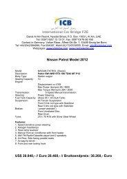 Nissan Patrol Model 2012 - ICB - International Car Bridge