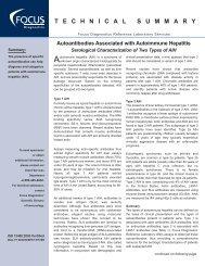 Autoantibodies Associated with Autoimmune Hepatitis - Focus ...
