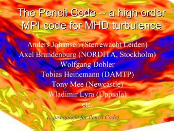 The Pencil Code