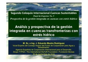 en cuencas transfronterizas con estrés hídrico - INBO