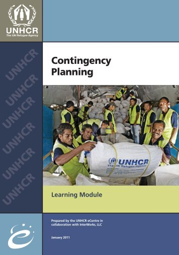 Contingency Planning - Disaster Management Center - University of ...