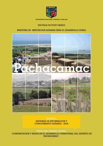 trabajos realizados sica - Universidad Nacional Agraria La Molina