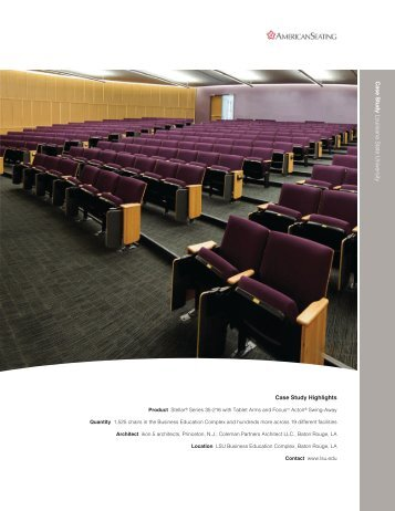 Case Study Highlights C a s e S tu d y L o u is ia ... - American Seating