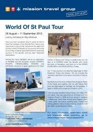World Of St Paul Tour - Mission Travel
