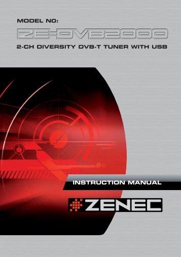 ZE-DVB2000 Manual D+E.indd - Zenec