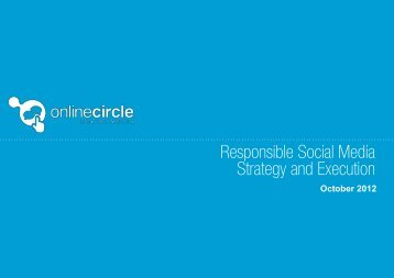Responsible Social Media Strategy and Execution - Online Circle