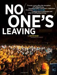 No One's Leaving, American Way, July 15, 2011 - Kevin Raub