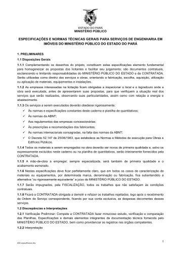 Caderno de Especificações e Normas Técnicas - DAJ