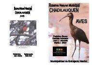 Reserva Munic. Chadilauquen- Aves - Fundación de Historia ...