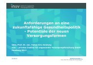 Univ.-Prof. Dr. Volker Amelung inav - Psychenet