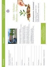 Flyer Fundraising 2012 - Evangelisches Dekanat Vorderer Odenwald