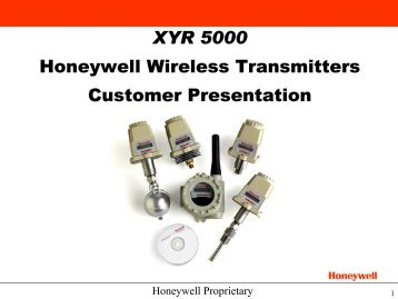XYR 5000 Honeywell Wireless Transmitters Customer ... - Merkantile