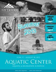 Aquatics Summer Schedule 2013 - Mt. Hood Community College