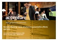 Copyright © 2009 Accenture All Rights Reserved ... - IDC Italia