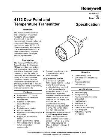 4112 Dew Point and Temperature Transmitter ... - Merkantile