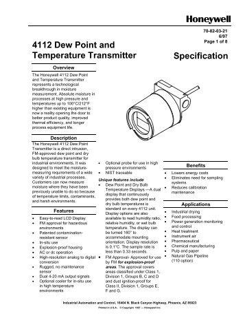 4112 Dew Point and Temperature Transmitter ... - Merkantile