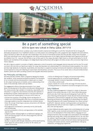 Be a part of something special - ACS International Schools
