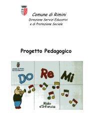 Progetto pedagogico del nido DoReMi per a.s. ... - Comune di Rimini