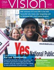 P3s and Privatization - Ontario Nurses' Association