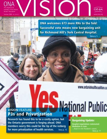 P3s and Privatization - Ontario Nurses' Association