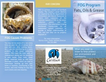 FOG Program Fats, Oils & Grease - Currituck County Government