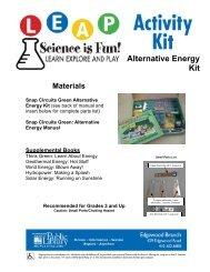 Alternative Energy Kit, pg 1-2
