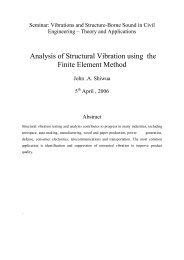 Analysis of Structural Vibration using the Finite Element Method