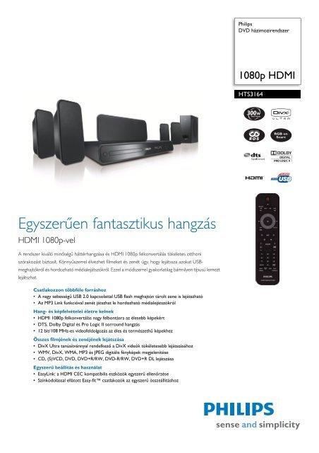 HTS3164/12 Philips DVD házimozirendszer - LCD és plazma TV ...