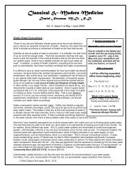 Vol.2, Issue 5, May/June 2004 - Rising Health Wellness Center