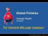 Global Finishes - Sherwin Williams